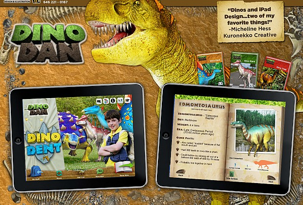Dino Dan was so much fun to work on!  To start off with I LOVE dinosaurs, plus there were lots of cgi dinosaur images that I was able to use. The roll call pages like the  one on the right  were tricky due to the fact that there was a lot of info that needed to be flowed in but still make sense for kids. The screen shots shown here are are part of a trio of three books that are made for kids of various ages.