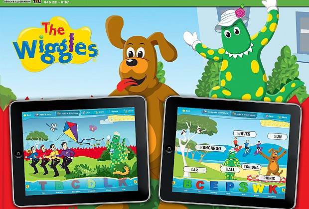 The Wiggles was a great series of apps to work on. I did the layout and design for both of the learning gears showcased here.